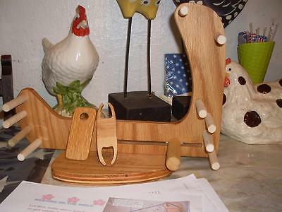 Handy Rustic Portable Compact Tote-A-Long Inkle Loom /Tools/Instructions