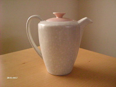 Vintage Poole Pottery Twin Tone Tea/Coffee Pot. Pink + Seagull.
