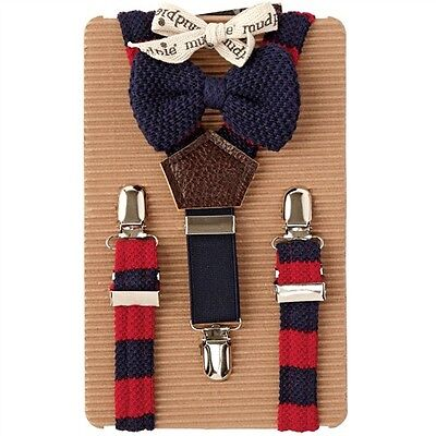 mudpie suspender bow tie set
