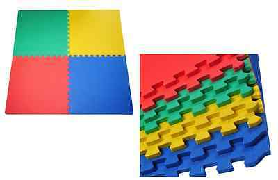 Interlocking Multi-Colours Mat Soft Foam Flooring Mats Kids Play Area Exercise