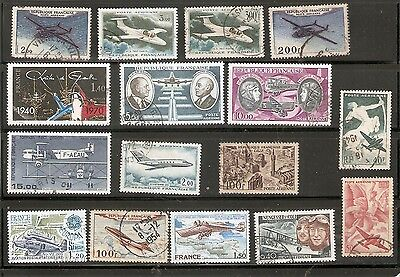 Lot De  Timbres Obliteres  France Aviation