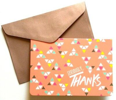 Set of 8 Blank Notecards & Envelopes ~  Seriously, Thanks Melon Triangles