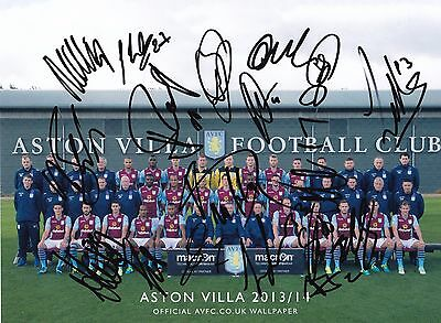 ASTON VILLA - A4 Team Picture signed by 12+