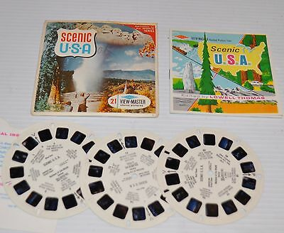- SCENIC USA  VIEW-MASTER Reels B-026 with Packet & Booklet -