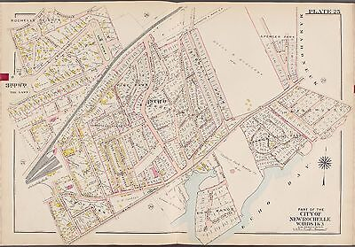 1910 G.w. Bromley New Rochelle Westchester County New York Echo Manor Atlas Map