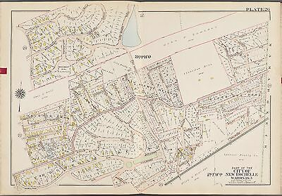 1910 New Rochelle Westchester County New York Beechmont Oval Bromley Atlas Map