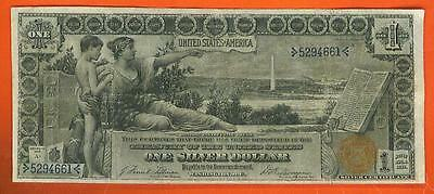 1896 $1 BEAUTIFUL VF++ EDUCATIONAL SILVER Dollar Silver Certificate!!