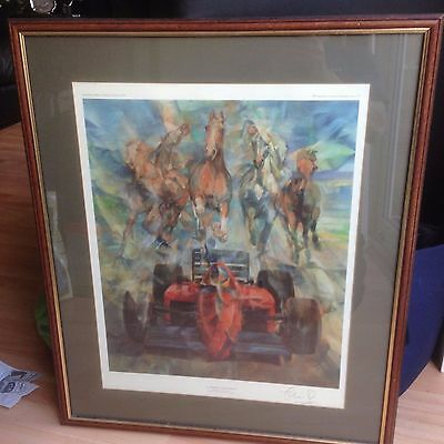 La Passione Ferrari Limited Edition  Framed Print  Hand Signed By Chris Rea