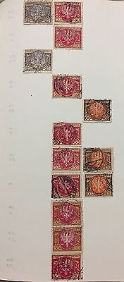 Poland  14 V.  Used Perf Variety For Description Look At The Picture Rare
