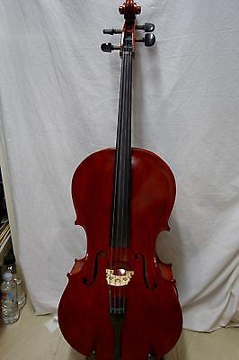 3/4 Salieri Cello Good Tone solid wood with bow and case