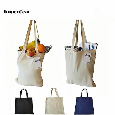 100% Cotton Reusable Grocery Blank Shopping Tote Totes Bag Bags 14 x 16