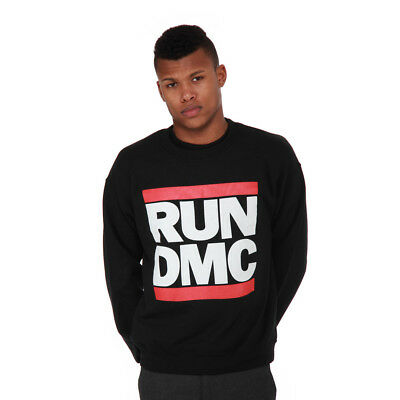 Run DMC - Logo Crewneck Sweater Black Pullover Rundhals