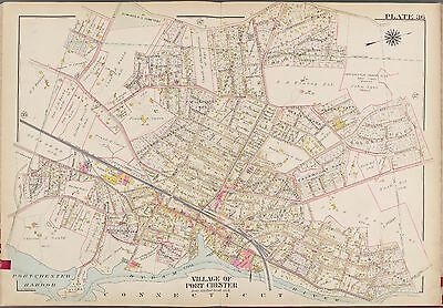 1910 G.w. Bromley Westchester, New York Port Chester Country Club Atlas Map