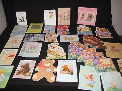 Lot of 35 Greeting Cards featuring TEDDY BEARS 1992-96  Varied Styles Crafting