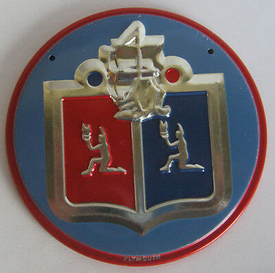 Wheaties PLYMOUTH Metal Cereal Premium Auto Emblem GREAT CONDITION $6.49