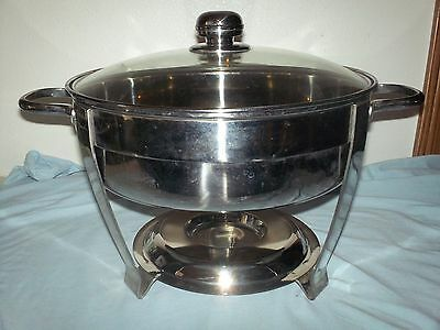 NSF Professional Quality Four-Quart Stainless Steel Chafing Dish 4-qt.