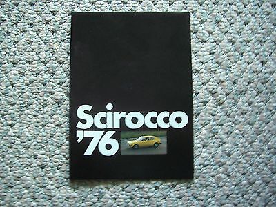 Scirocco (Vw) 1976 Brochure; Fold Out; Excellent Condition
