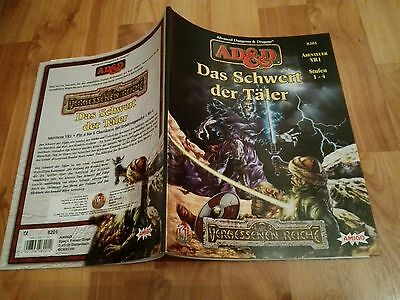 Vr1 Das Schwert Der Täler Advanced Dungeons & Dragons Ad&d Fast Neuw. +Farbkarte
