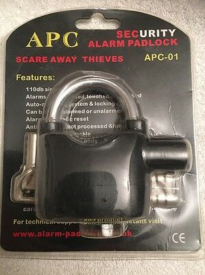 Alarm Padlock Ideal For Motorcycles Bicycles Plant Equipment