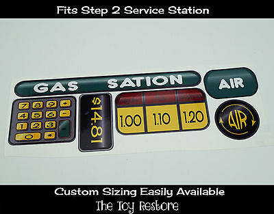 New Replacement Decals Stickers fits Step 2 Service Station Green and Yellow