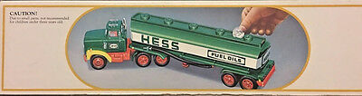 "1984 ""HESS"" Gasoline Gas, Oil Toy Battery Operated Semi Tanker Truck Bank in box"