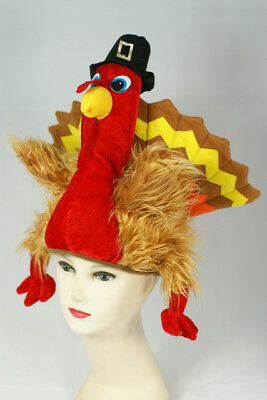 Turkey Hat Adult Costume Accessory One Size NEW Thanksgiving