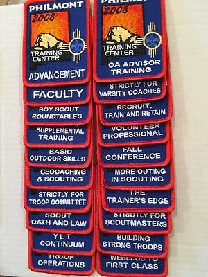 Philmont BSA 2008 Training Conference Set Of 20 Different Patches Mint