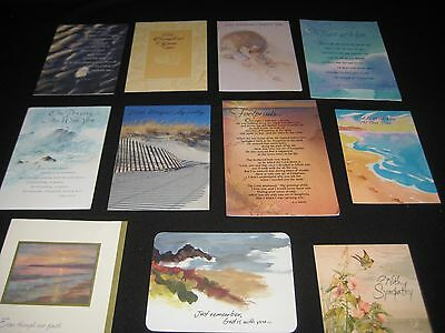 Lot of 11 Greeting Cards with BEACH OCEAN COVERS 1992-96  Varied Style Crafting
