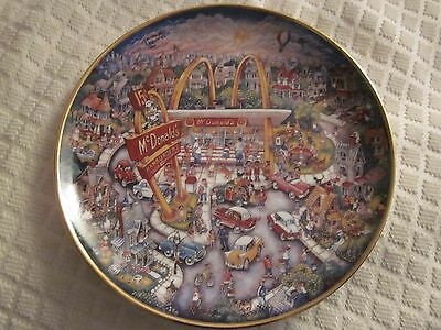 """McDonald's """"Golden Moments"""" Limited Edition Collectors Plate by Bill Bell"""