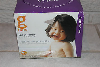 gDiapers Cloth Diaper Flushable Liners 105 count New