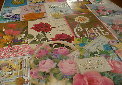 Vtg 50's 60's 70's Lot Greeting Cards Scrapbook Easter & Mother's Day