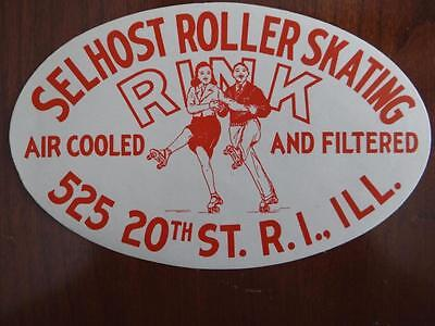Selhost Roller Skating Rink Rock Island Illinois Luggage Decal Tag Sticker(D1F3)