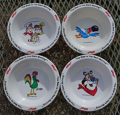 Kelloggs Cereal Bowls - Set of 4 - Gorgeous!