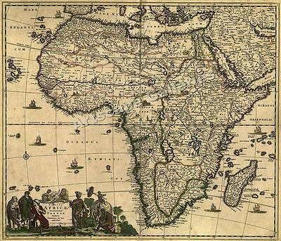 1688 Africa Middle East Historic Old World Map - 20x24