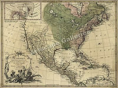 1757 North America and Colonies New World Map - 20x24