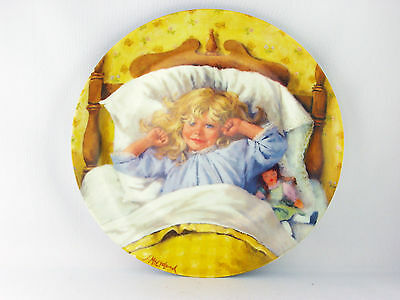 Vintage Collector Plate by John McClelland 1985 Becky's Day Collection Awakening