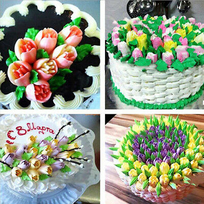 7pcs Russian Tulip Flower Cake Icing Piping Nozzles Decorating Tips Tool+Coupler