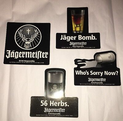Set Of 4 Jagermeister Refrigerator Magnets Jäger Bomb, 56 Herbs, Who's Sorry Now
