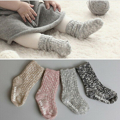 0-4years Baby Socks Anti Slip Newborn Knee High Socks USSL