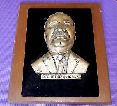 RARE Vintage Bas Relief MLK Bust Portrait Martin Luther King Jr  Larry W Womack