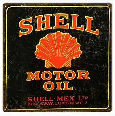 Shell Motor Oil And Gas Station Reproduction Metal Sign