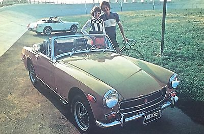 Vintage Postcard 1973 Mg Midget Car Advertising