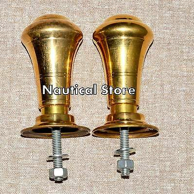 Antique Style Door Knobs Handles with Plates Architectural Vintage Old Brass
