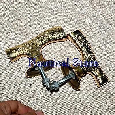 Vintage Style Brass Decorative Door Handle Pull  Style 2 Pics