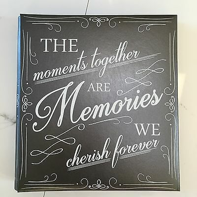 TYM photo album 500 large 4x6 family love memories moments silver pewter wedding