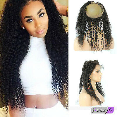 Remeehi kinky curly 360 Degree Lace Frontal Closure Indian remy Hair