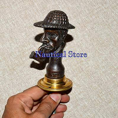 Vintage Style Handcrafted Rare look Brass Men Door Handle Pulls
