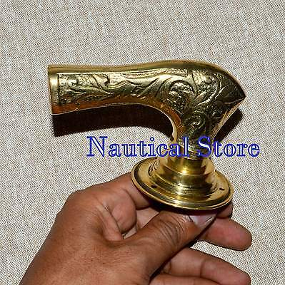 Antique Brass Door Knob Handle Pull Architectural Vintage Backing Plate Old