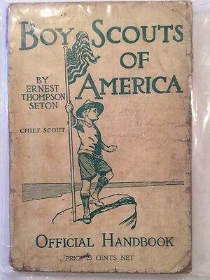 BSA 1910 Handbook - This Is The RARE one With Only One Author On The Cover