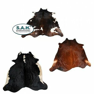 Cowhide Rug 3-Piece Value Combo Set South American Hides $230!! Big Deal!!